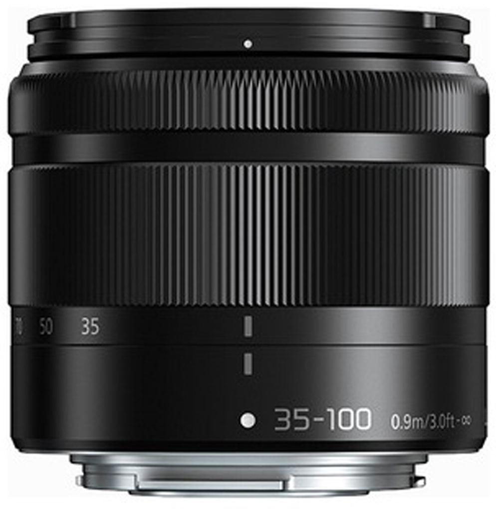 Panasonic 35-100mm 1:4,0-5,6 G VARIO MEGA O.I.S (H-FS35100E-K) schwarz aus Set
