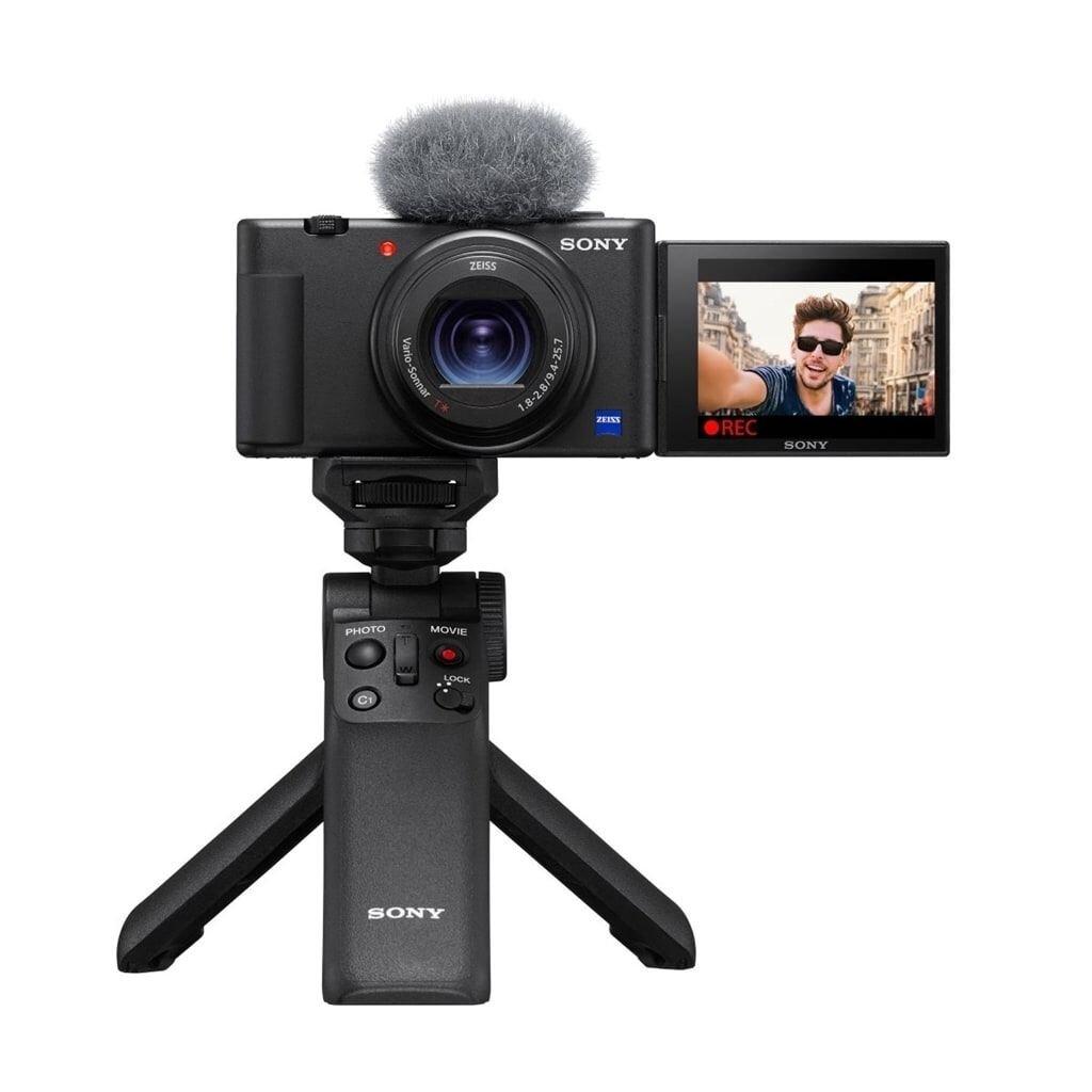 Sony ZV-1 Vlog-Kamera + GP-VPT2BT Handgriff + ECM-W2BT Mikrofon