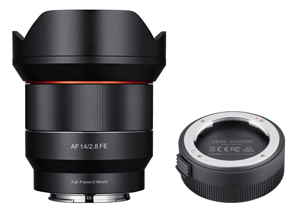Samyang AF 14mm 1:2,8 inkl. Lens Station für Sony FE