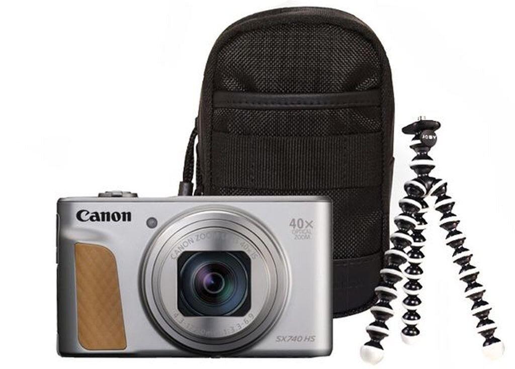 Canon PowerShot SX740 HS Travel Kit silber