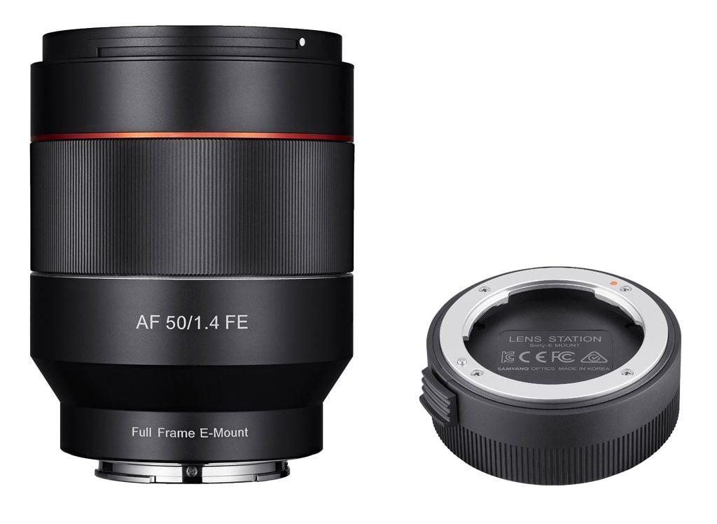 Samyang AF 50mm 1:1,4 FE inkl. Lens Station für Sony E