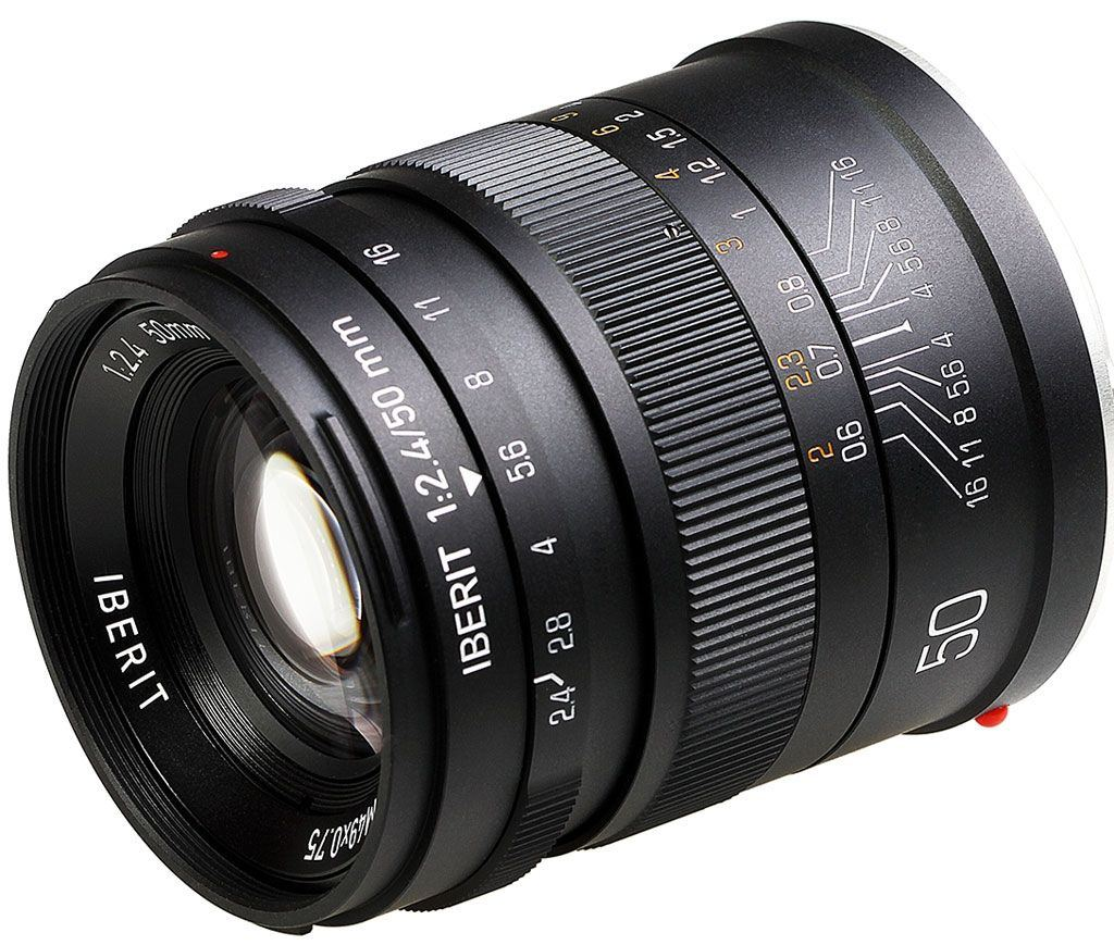 Iberit 50mm 1:2,4 Sony E frosted black