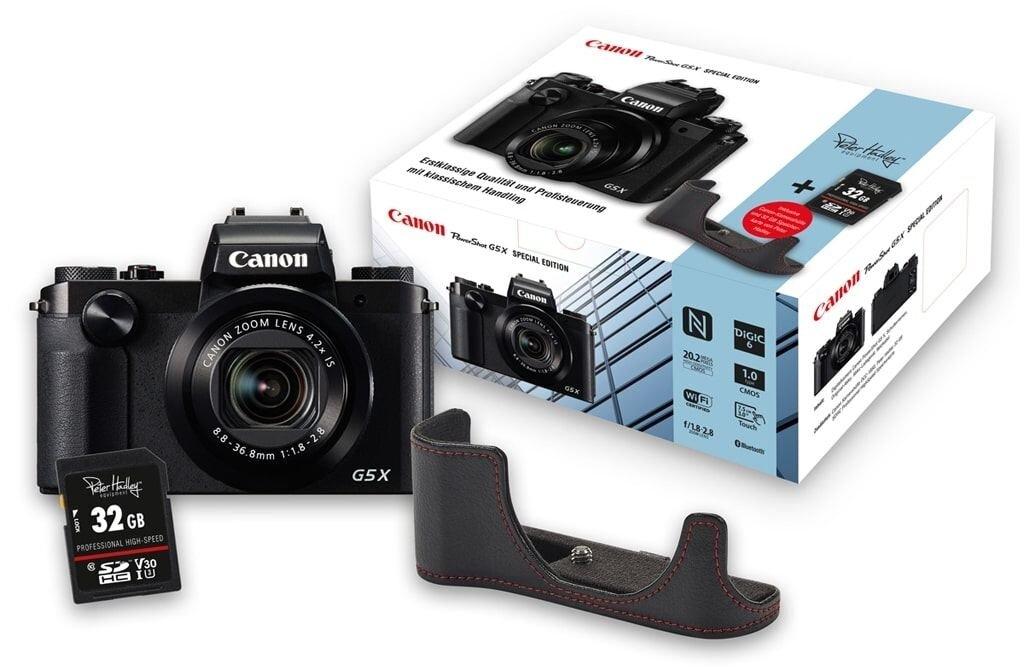 Canon PowerShot G5 X Special Edition inkl. Canon DCC-1850 Leder-Kamerahülle und SDHC 32GB Speicherkarte