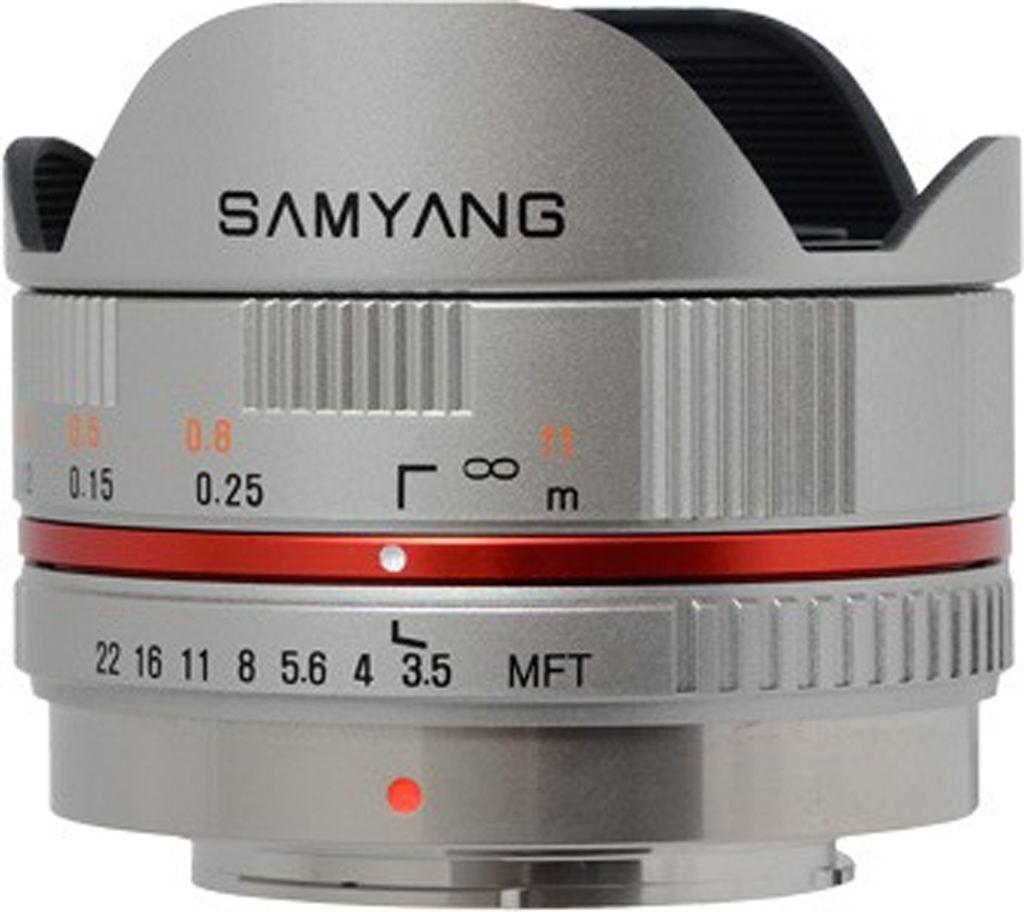 Samyang 7,5mm 1:3,5 für MFT silber